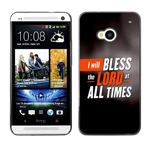 DREAMCASE (NICHT HTC ONE MINI M4) Bibelzitate Bild Hart Handy Schutzhülle Schutz Schale Case Cover Etui für HTC ONE M7 - Ich will den Herrn loben allezeit