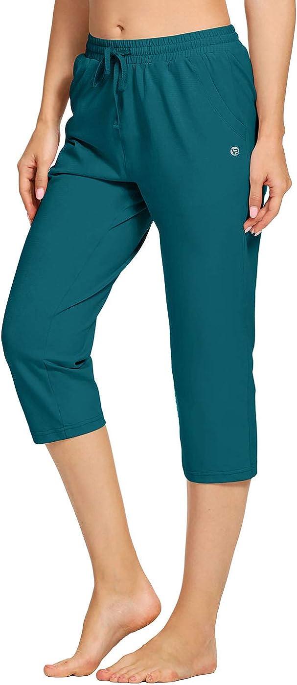 VEOBIKE Womens Max 85% OFF Active Joggers Capri Cotton Max 76% OFF Pants Lightweight Loo
