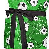 Ahomy Verstellbare Latzschürze mit 2 Taschen, Fußball- und Fußball-Schürze, für Damen, für Grill, Küche, Kochen, Basteln, Backen - 5