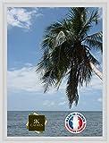 RK Cadres Caisse américaine pour Une Toile Format Paysage 15 50x65 / 65 x 50 Cadre Caisse Americaine Blanc, 4 cm de Largeur, Cadre en Bois