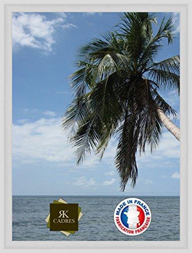 Caisse américaine pour Une Toile Format Figure 8 38x46 / 46 x 38 Cadres Caisse Americaine Blanc, 4 cm de Largeur, Cadre en Bois