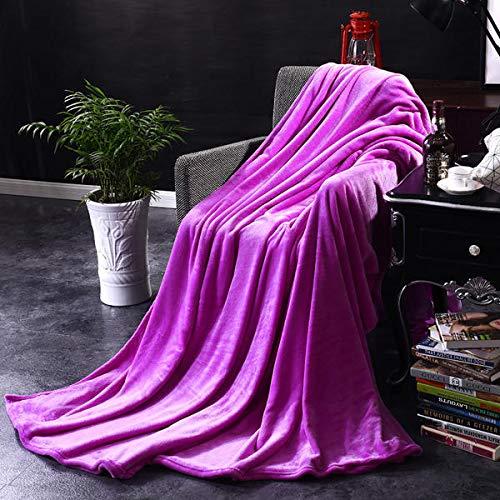 Phoeni Kuscheldecke Sommerdecke Luftige Sofa-Decke Flauschige Kuscheldecke Hochwertige Wohndecke Super Weiche Fleecedecke als Sofaüberwurf Tagesdecke oder Wohnzimmerdecke Dunkelviolett 1X1.5M