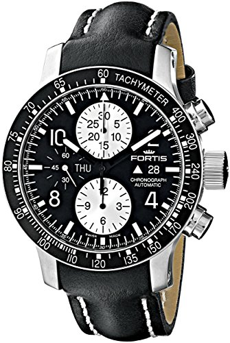 Fortis Men's 665.10.11 L.01 B-42 Stratoliner Chronograph Analog Display Automatic Self Wind Black Watch