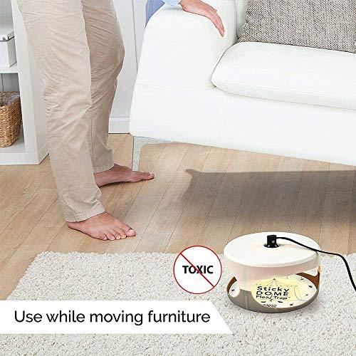 KOBWA Flohfalle, Elektronische Sticky Dome Flohfalle mit 2 Sticky Discs und 2 Glühbirnen, Schädlingsbekämpfung für Haus und Haustiere - 3