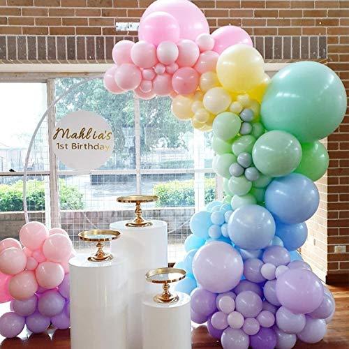 Balloon Garland Kits, Rainbow Balloon Garland 5M16ft Long Macaron Balloons, for Party Wedding Birthday Balloons Decorations, Unicorn Party, Pastel Rainbow Party Supplies.