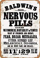 ボールドウィンの神経丸薬ビンテージメタルサイン
