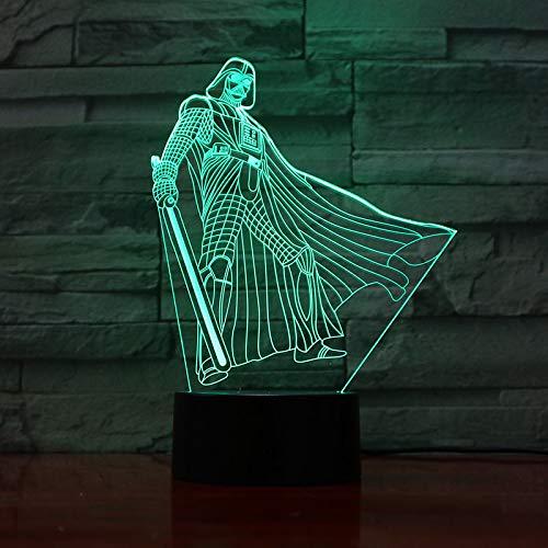 3D Led Luz Star Wars Jedi De Noche Flash Bombilla Usb Figura Dormitorio Luz De Sueño Base Usb Niño Niños Regalo De Navidad Juguetes 7 Cambio De Color