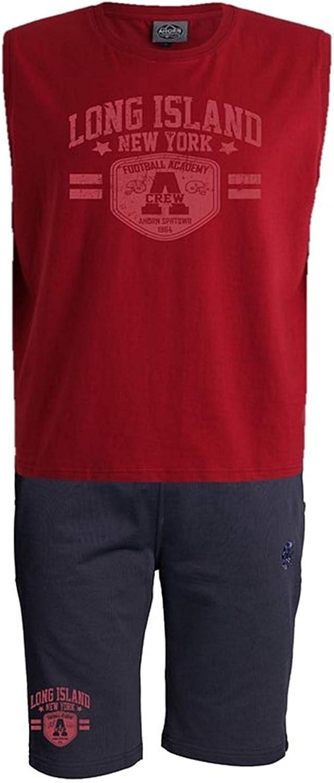 Ahorn Sportswear übergren   Kurzer Freizeitanzug Long Island Football (rot) Dark rot Navy