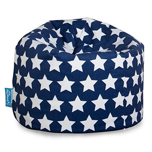 Lounge Pug®, Puff Infantil, Estampado para Niños - Estrellas Azul