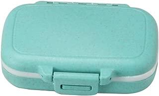 Cuiron Pill Case, Small Pill Box Wheat Straw Environmental Protection Material, Premium Small Pill Organizer, Vitamin Box Storage Box (Color : T7)