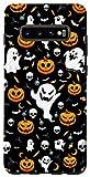 Galaxy S10+ Halloween Case Pumpkins Bats Skulls Candy Ghosts Pattern Case