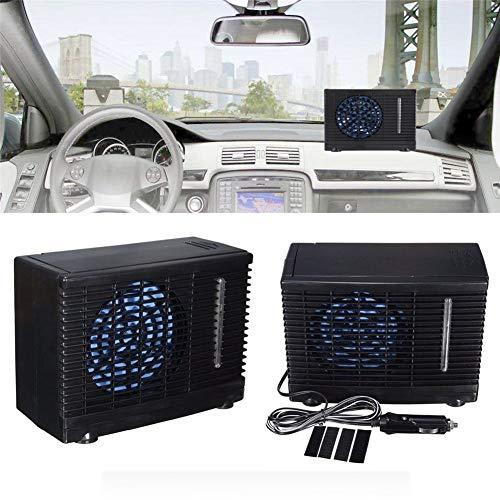 Globalqi - Condizionatore per auto, ventilatore di condizionamento, refrigerazione ad acqua, pratico multifunzione, portatile, installazione a 12 V, portatile, per mantenere al fresco il conducente