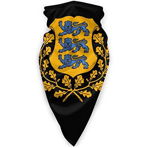 WlQshop emblème National de l'estonie Cache-Cou Plus Chaud Coupe-Vent Couverture du Visage écharpe Couverture de Sports de Plein air