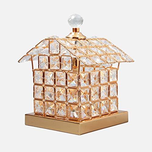 HYY-YY Lámparas de Mesa, Personalidad Simple de la Personalidad Creativa de la lámpara de la Sala, Dormitorio lámpara de Cristal, Golden Home Casa Ideas de Lectura la Noche la luz