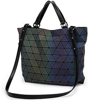 Geometric Purse Luminous Big Women Handbags,Reflective Shoulder Crossbody Bags Totes