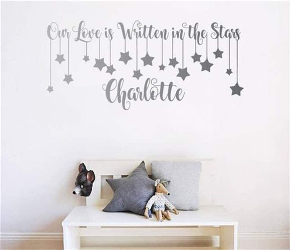 Kenden Stickers Vinyl Wall Art Decals Letters Quotes Decoration Our Love Is Written In The Stars Personalised Name Home Kitchen