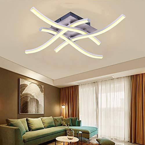 Lamparas de Techo Modernas 28W Luz Led 3000K 1400LM Plafones Led Techo para Cocina Salon Habitación Dormitorio Baño Estudio Fácil de Instalar Apto para Juvenil[Clase de eficiencia energética A+]
