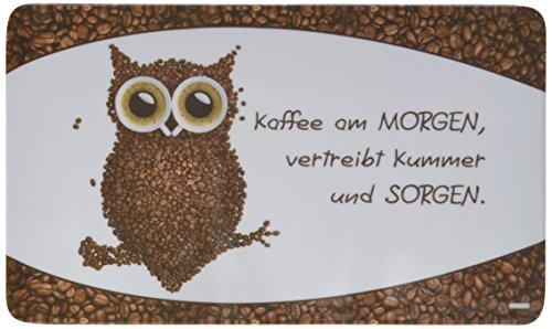Frühstücksbrettchen KAFFEEEULE Kesper Melamin/Stullenbrett/Brotbrett