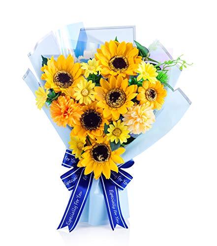 スタンディング ソープフラワー 花束 Mサイズ (ひまわり)