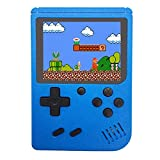 Mini Retro Handheld FC Games Consoles ,Built-in 400 Classic Game, Portable Gameboy 3 Inch LCD Screen 1000mAh Rechargeable Battery TV Output ,Good Gifts for Kids Boys Girls Men Women (Consoles-Blue)
