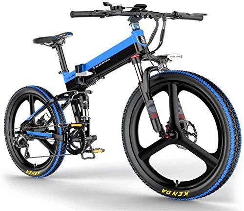 Bicicleta eléctrica de nieve, Bicicleta eléctrica para adultos 48V 10AH Iones de litio, batería extraíble, marco de aleación de aluminio y la rueda de aleación de magnesio ultralige, tienen tres modos