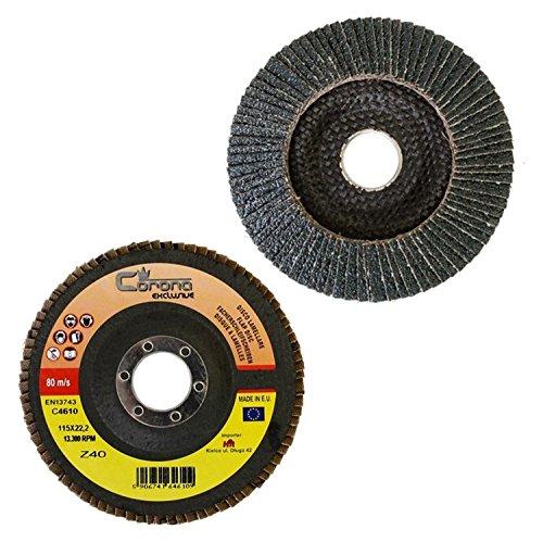 Disco abrasivo profesional (diámetro 115 mm, grosor 10 mm, grano 80)