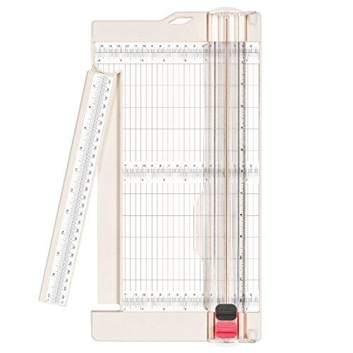 Vaessen Creative 2207-108 Papierschneider / Rollenschneider, Schneide und Falzklinge, Schneidemaschine A3, A4, Plastik, weiß, 30.5 x 15.2 x 2 cm