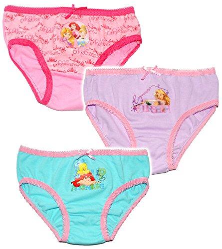 alles-meine.de GmbH alles-meine.de GmbH 3 TLG. Slip / Unterhosen - Disney Princess - Rapunzel - Arielle / Prinzessin - Größe 2 bis 3 Jahre - Gr. 98 bis 104 - 100 % Baumwolle - für Kinder Pants U..