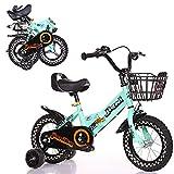 Bicicleta Infantil Plegable con Ruedas De Entrenamiento Y Frenos Duales, Los Manillares/Asientos Se Pueden Ajustar Chico Chica Bicicleta Al Aire Libre