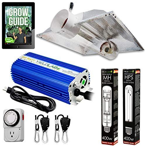 Yield Lab 400W HPS+MH Cool Tube Hood Reflector Grow Light Kit