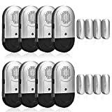 Window and Door Alarms for Home 8 Pack Sanjie Wireless Magnetic Sensor 120 Loud DB Alarm for Pool Safety with Batteries Included-Silver