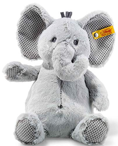 Steiff Ellie Elefant - 28 cm - Kuscheltier für Kinder - Plüschelefant - weich & waschbar - grau - (240539)