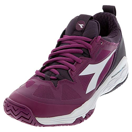 Diadora Womens Speed Blushield Fly 2 Clay Tennis Casual Shoes, Purple, 6.5