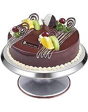 VIVILINEN Obrotowy stojak na ciasto 30 cm, patera na tort, stojak na tort, ze stopu aluminium, krążek obrotowy (12 cali)