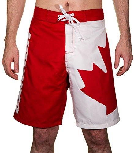 canada flag shorts - 2