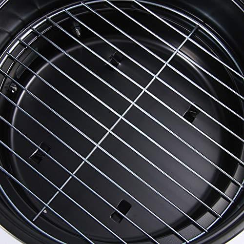 51p7sM63D7L - Tragbarer Holzkohlegrill Für Den Haushalt Im Freien Tragbarer Mini-Grillgrill Ultraleicht Einfacher Grill-Holzkohleofen Geeignet Für 1-2 Personen