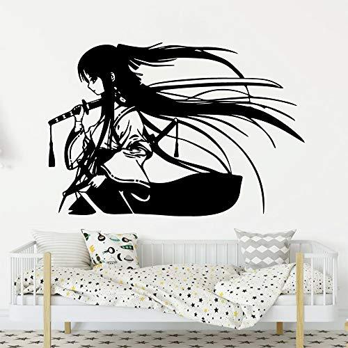 Geisha décoration Murale Autocollant pour Chambre d'enfants décoration de la Maison décoration de la Chambre Fond Salon Art décalque 28x41 cm