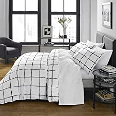 """100% Wrinkle Resistant Microfiber Construction Set includes: One duvet cover (88""""L x 68""""W) and one sham (21""""L x 27""""W) Duvet cover features zipper closure and additional inner corner ties Adds gorgeous modern style to your bedroom decor Machine washab..."""