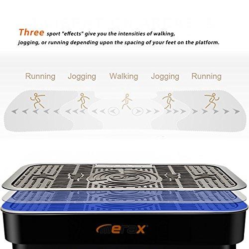 Merax 2000W MS033629BAA Crazy Fit Vibration Platform Fitness Machine,Black