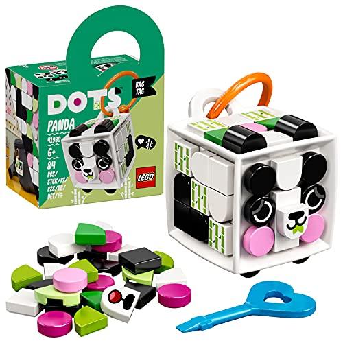 LEGO 41930 Dots Adorno para Mochila: Panda, Accesorio Personalizado, Juegos Creativos y Manualidades para Niños +6 Años