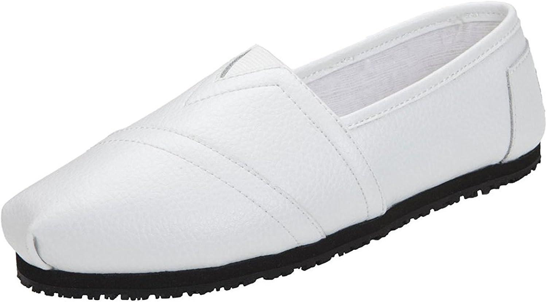 Laforst Jess 3112 Womens Work Slip Resistant Flat Slip On shoes White 12