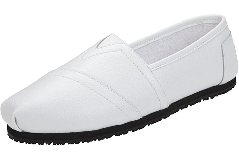 雪勃起基本的な[Laforst] Jess 3112?Womens Work Slip Resistant Flat Slip On Shoes