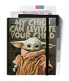 Grupo Erik - CBK0073 Carpeblock 4 anillas Baby Yoda - The Mandarlorian, Star Wars, A4 (26x32 cm), Carpeta 4 Anillas Con Recambio