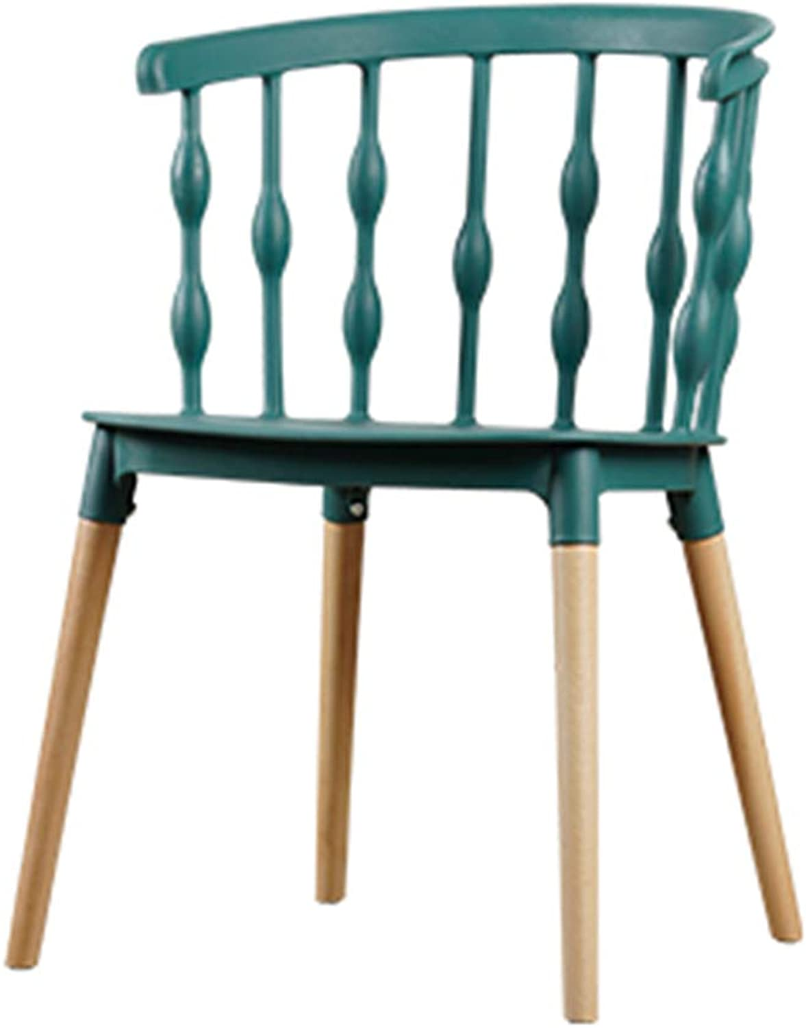 Nordic Dining Chairs,Solid Wood Lounge Chair, PP Makeup Stool,Strong Bearing Capacity,for Restaurant Pub Cafe Living Room Office