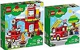 LEGO® Duplo 10901 10903 - Juego de 2 coches de bomberos y guardia de bomberos