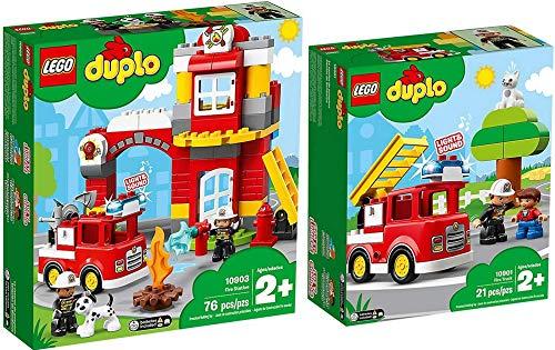 LEGO® Duplo 10901 10903 - Set di 2 camion dei pompieri + guardia dei pompieri