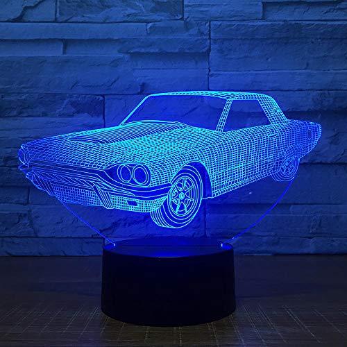 ilusión 3D lámpara de proyección lámpara Chanel regalo de cumpleaños para jóvenes, niñas Con interfaz USB, cambio de color colorido