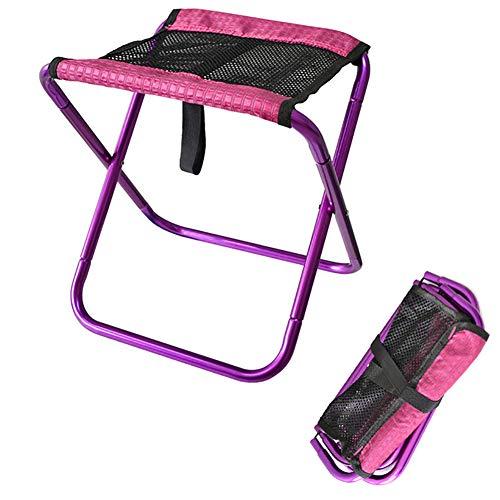 INEP Draagbare opklapbare kruk, opvouwbare campingstoel outdoor opklapbare lichtkamp aluminium bank camping geschikt voor vissen/picknicken/reizen en wandelen (30x25.5x31.5CM)