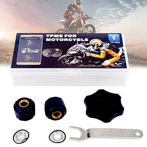 Mankoo Reifendruckprüfer Motorrad Bluetooth Reifendruckkontrollsystem Externe Sensoren Wasserdichter Anzeigemodus APP