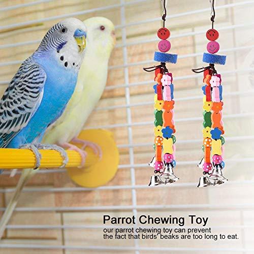 Denkerm Instalación fácil Robusto Clip para Colgar Juguete Colgante para Masticar Aves, Juguete para Masticar Loros Coloridos, Loro casero Duradero para Entretenimiento para pájaros